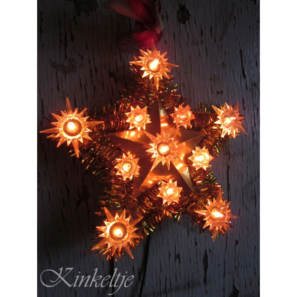 oude kerstster verlichting volledige grootte weergeven